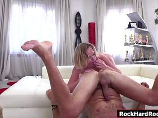 Russian babe toyed and analed by Rocco
